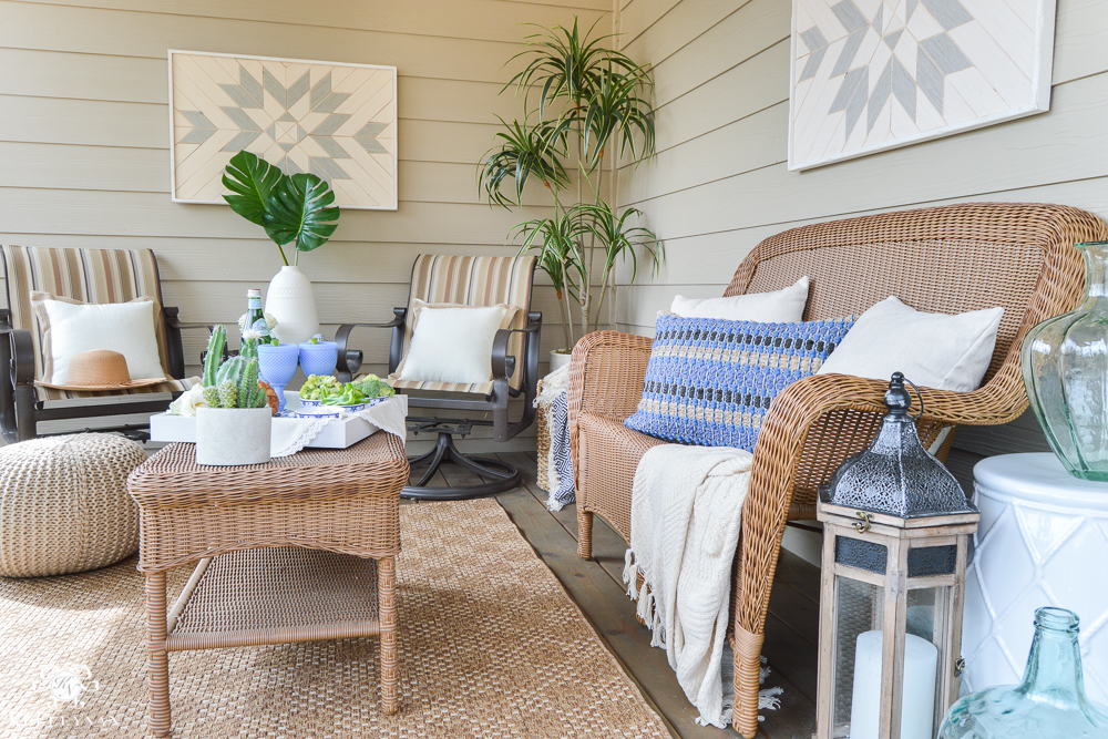 Shades of Summer Home Tour Back Screened In Porch- Porch off bedroom