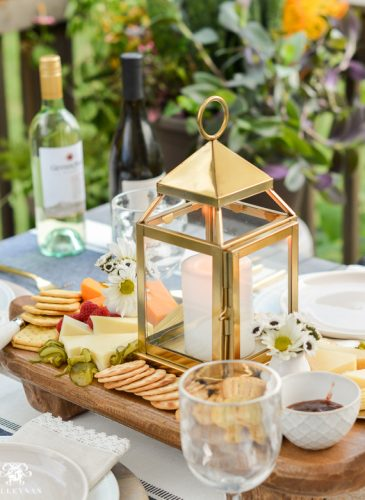 Appetizers and Cheese Boards- A Different Centerpiece for Outdoor Dining