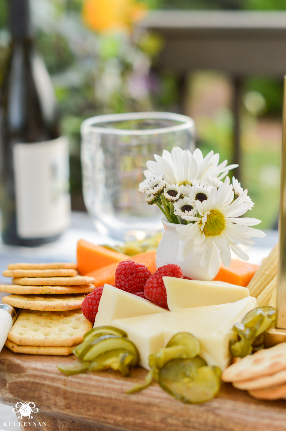 Outdoor Entertaining and Table Ideas with Cheese board appetizer centerpieces- entertaining with cheese boards