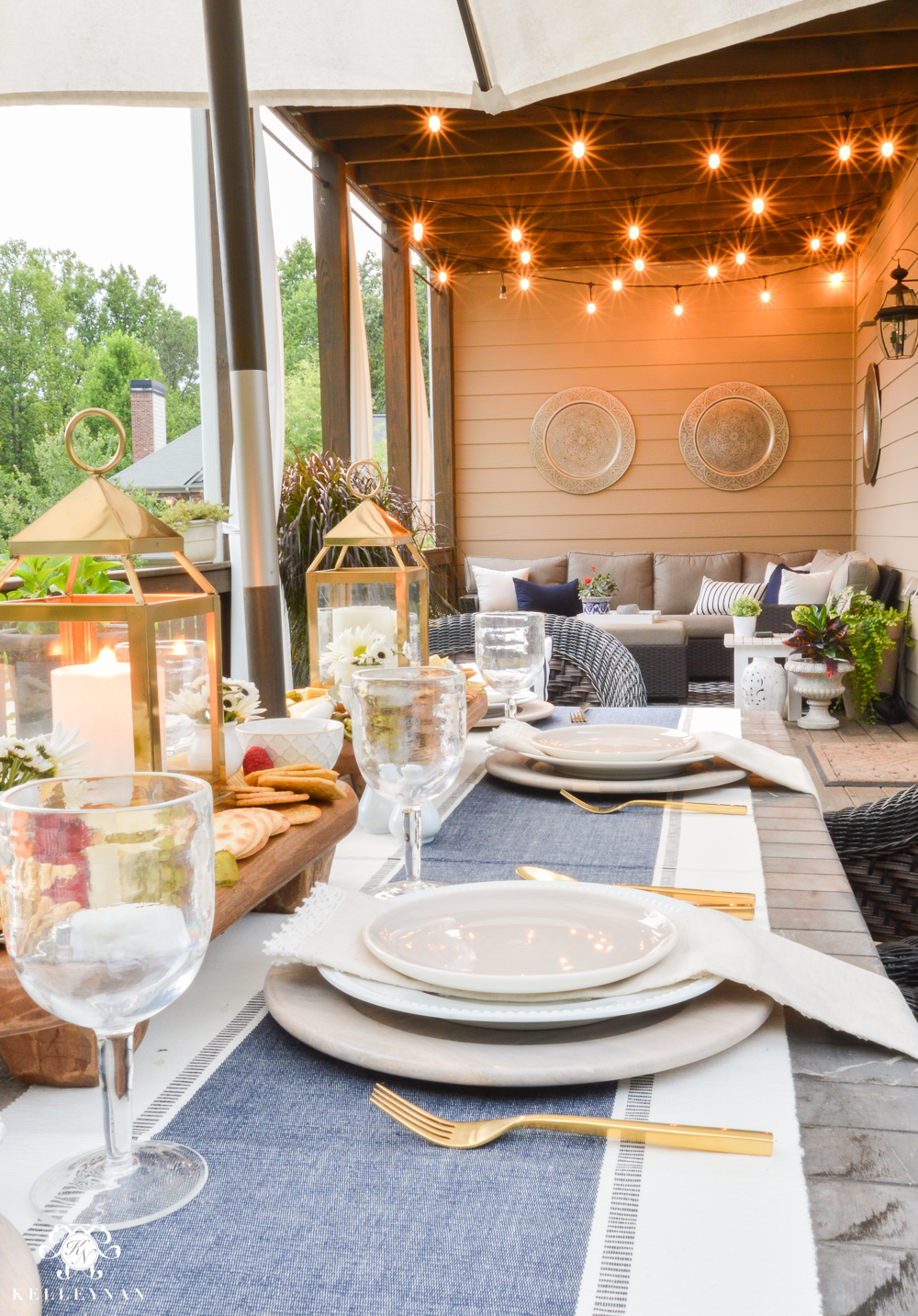 Appetizers and cheese boards a different centerpiece for for Patio table centerpiece
