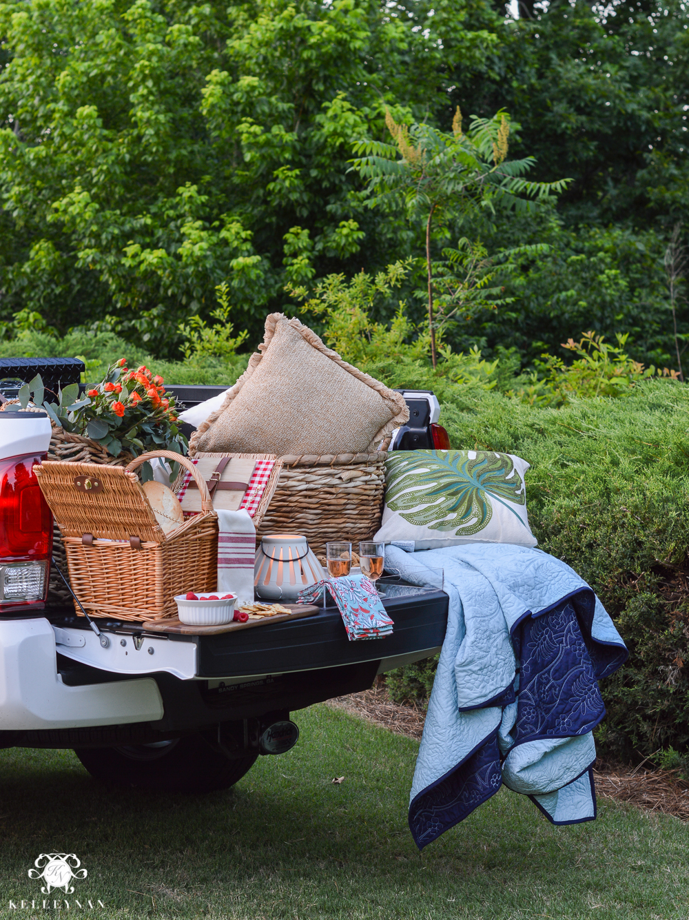 Picnic and Tailgate Ideas and Setup- cute tailgate setup for picnic