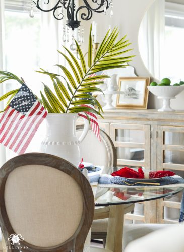 Favorite Summer Frozen Drink: Strawberry Lemon-Limeade Rum Slush Recipe and Quick Fourth of July Table Decor
