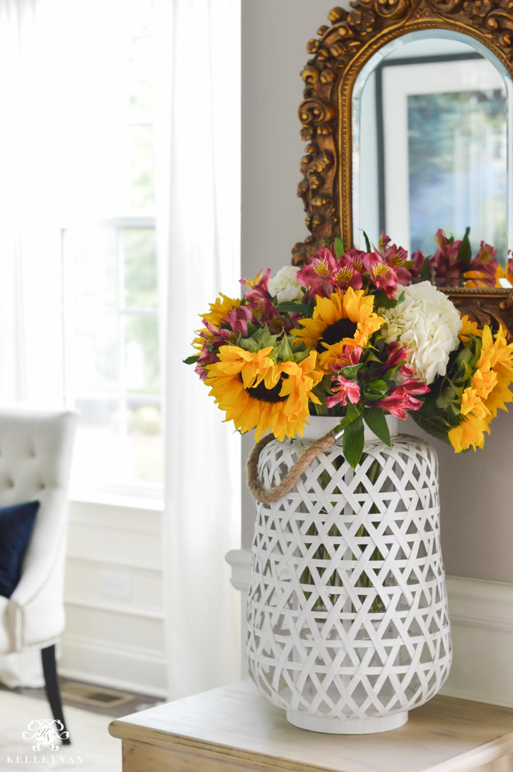Floral Arrangement Ideas Using Lanterns - Kelley Nan