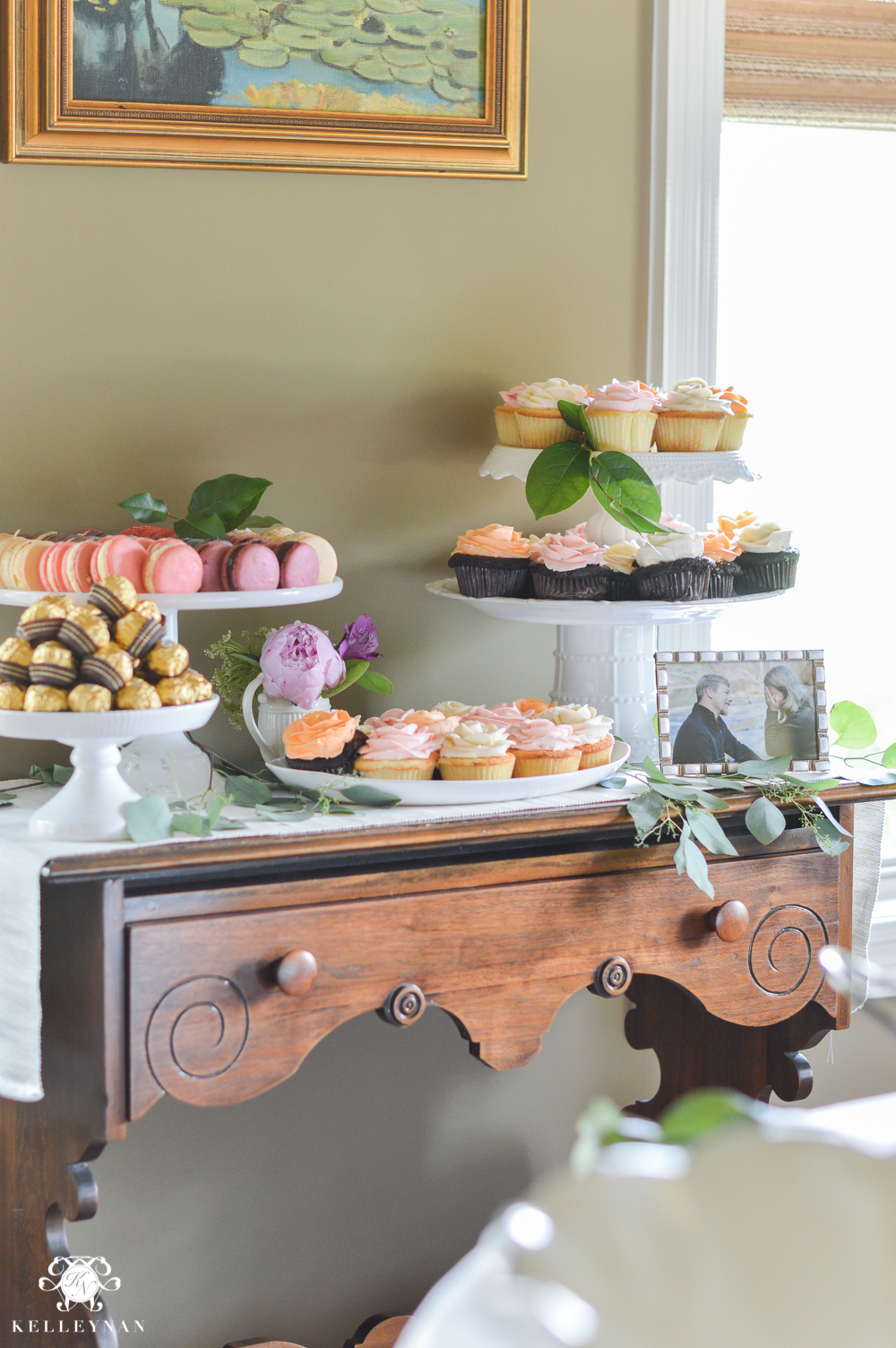 southern garden party bridal shower ideas dessert food table