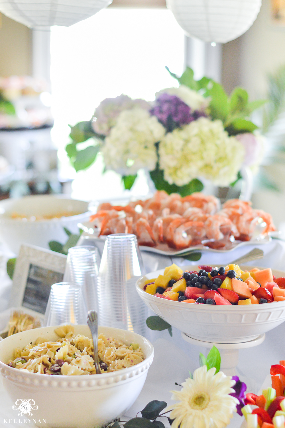 southern garden party bridal shower ideas how to arrange a shower food table
