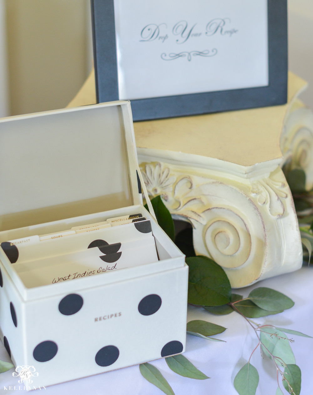 Southern Garden Party Bridal Shower Ideas- recipe card box