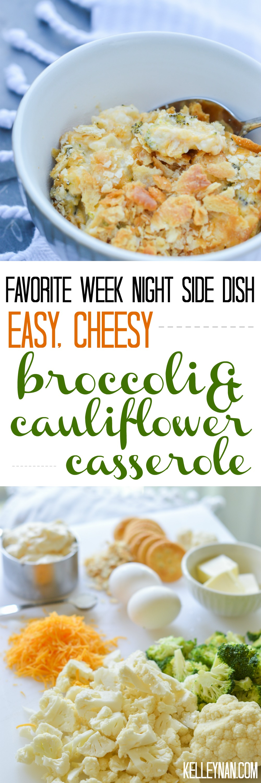 Easy Cheesy Broccoli Cauliflower Casserole Recipe