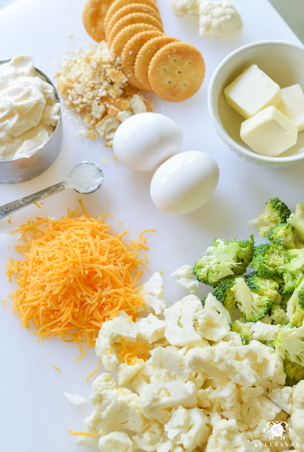 Easy Favorite Broccoli Cauliflower Casserole Recipe with Ritz Crackers