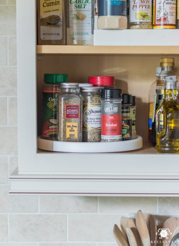 Easy, Organized Baking and Spice Cabinet