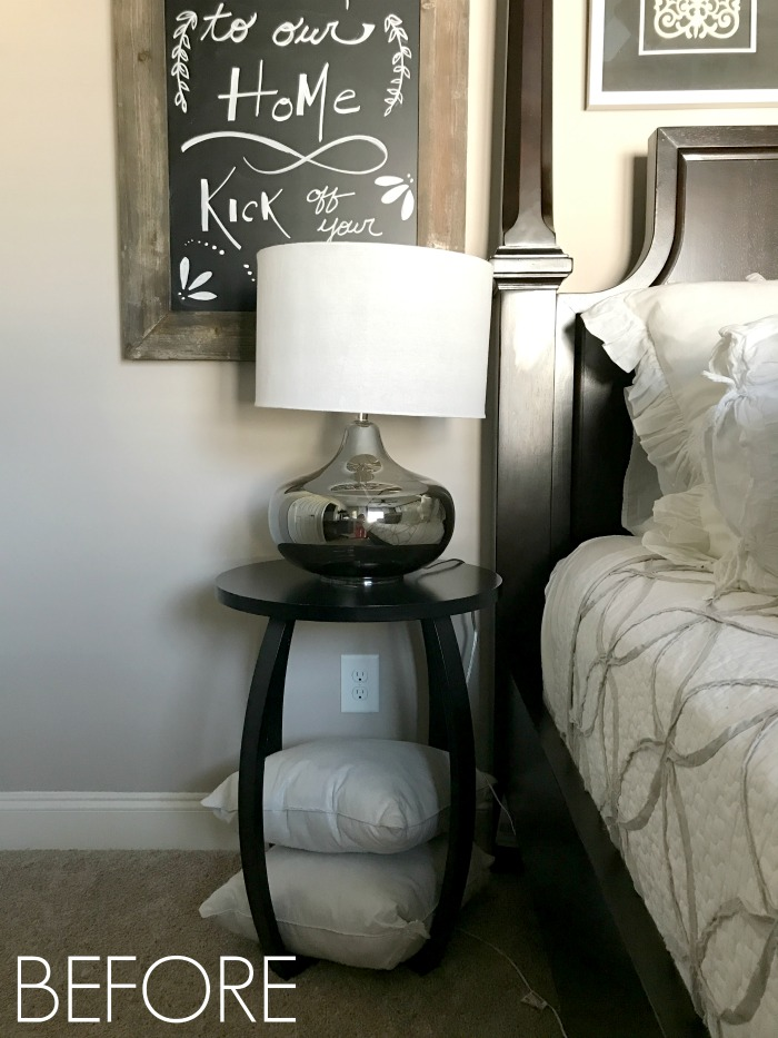 Bar Cart Nightstand for a Small Guest