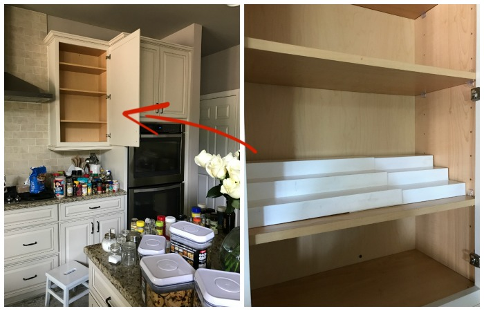 Organizing The Spice And Baking Cabinet With Risers