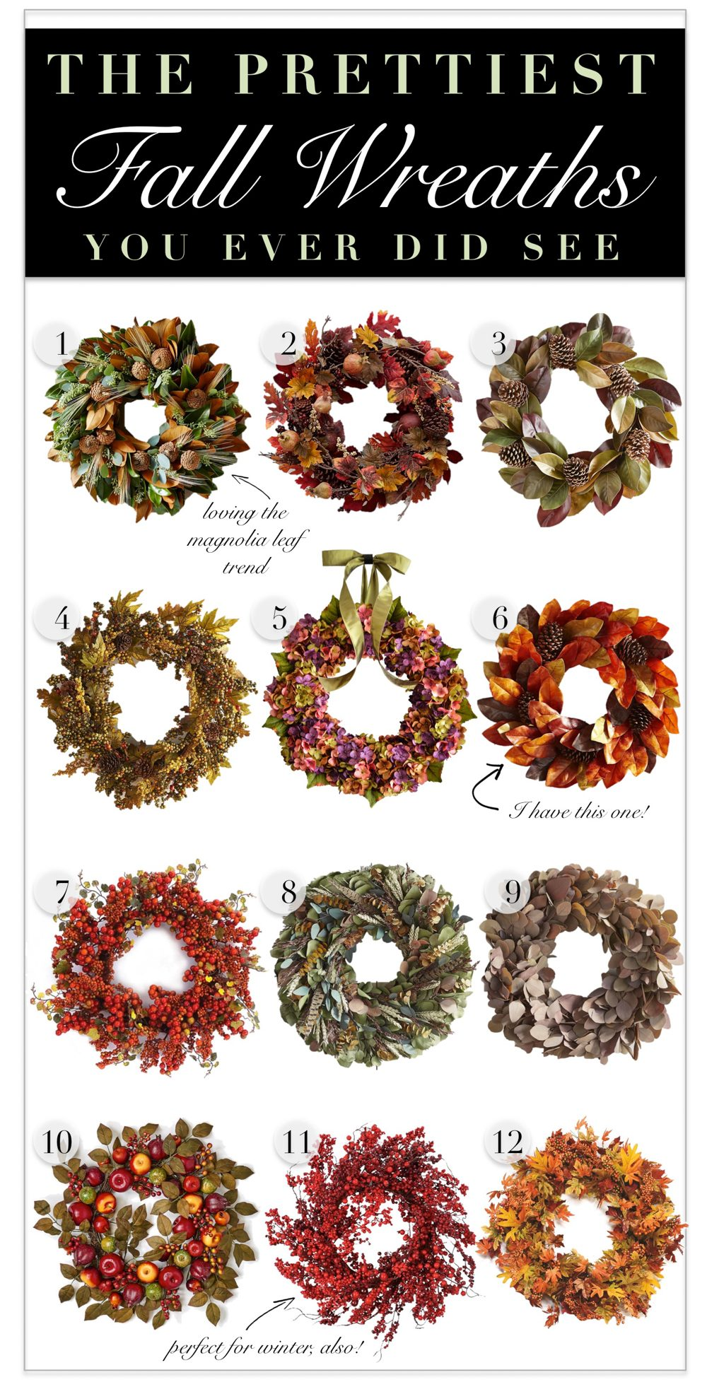Prettiest Fall Wreaths
