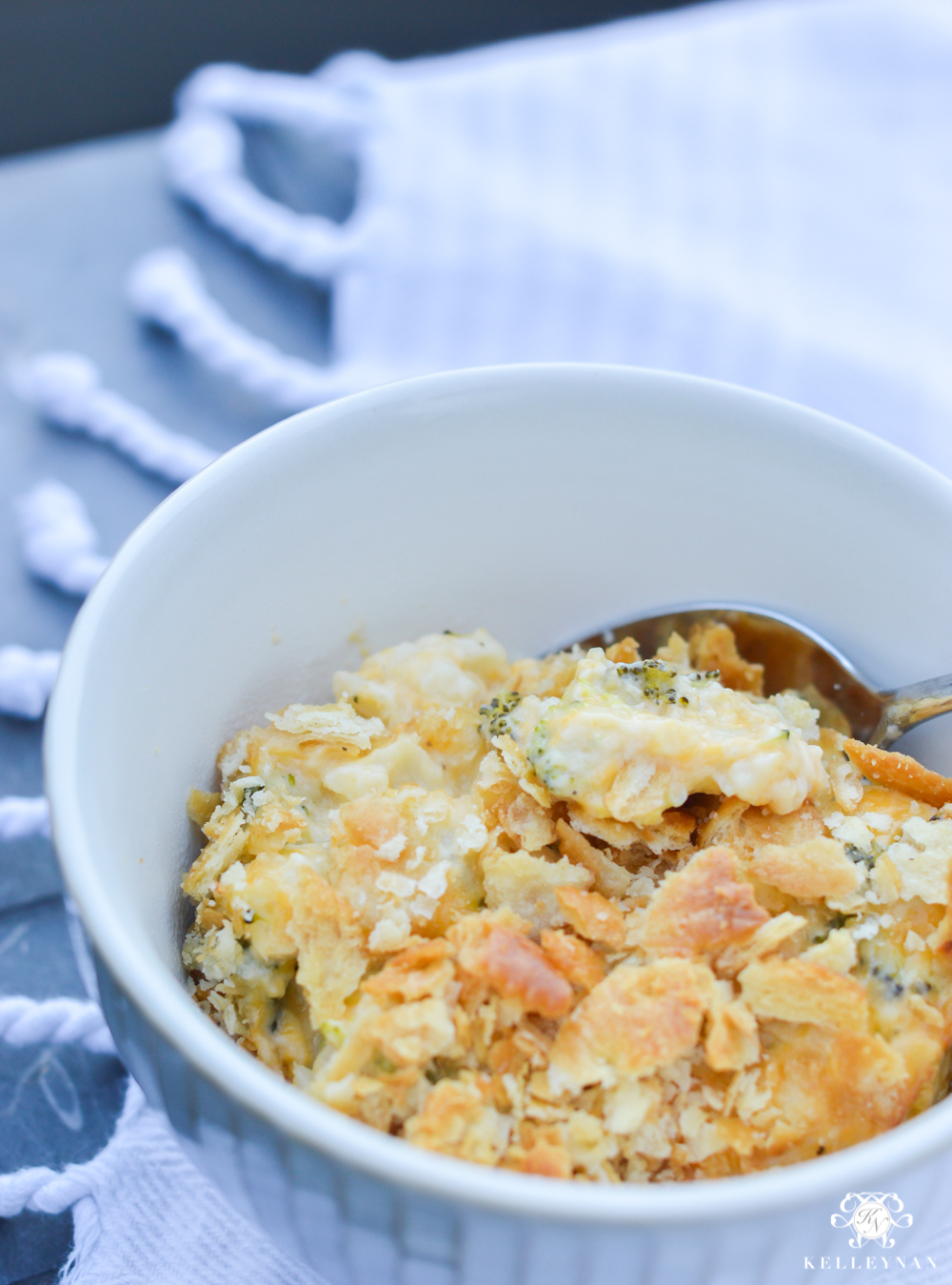 Favorite Casserole Side Dish- Cheesy Broccoli Cauliflower Casserole