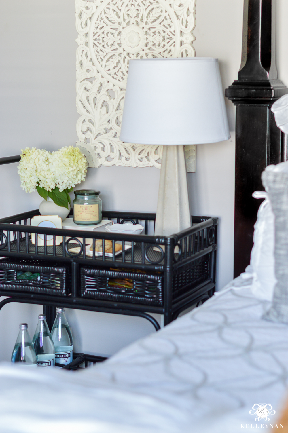 info for a24b2 1b0ab Bar Cart Nightstand for a Small Guest Bedroom | Kelley Nan