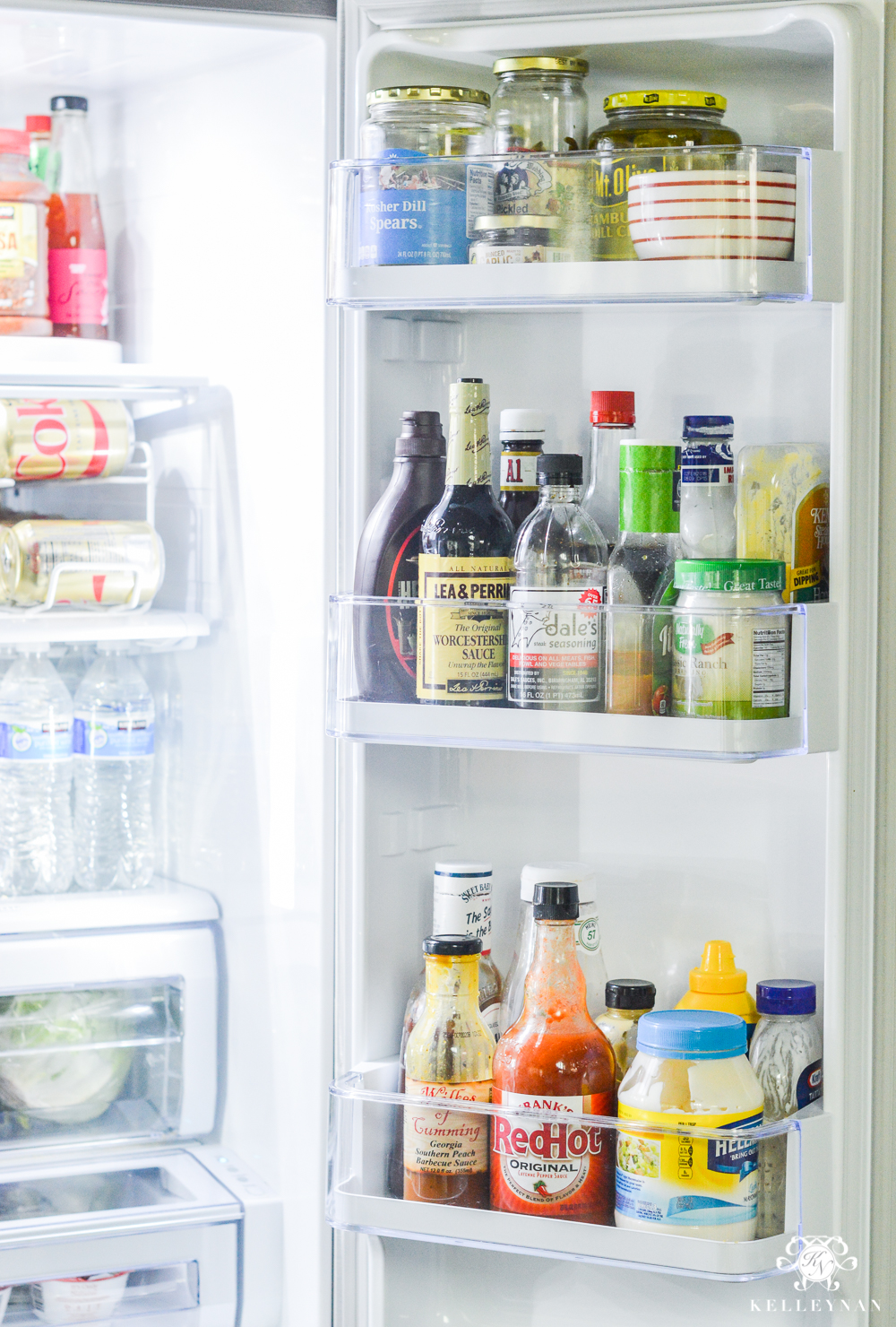 Refrigerator Organization and Best Ways to Organize the Fridge- condiments and sauces in door
