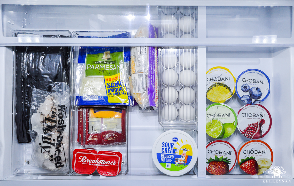 Refrigerator Organization and Best Ways to Organize the Fridge- dairy and meat drawer