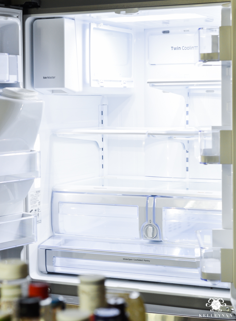 Refrigerator Organization and Best Ways to Organize the Fridge- empty and bare fridge