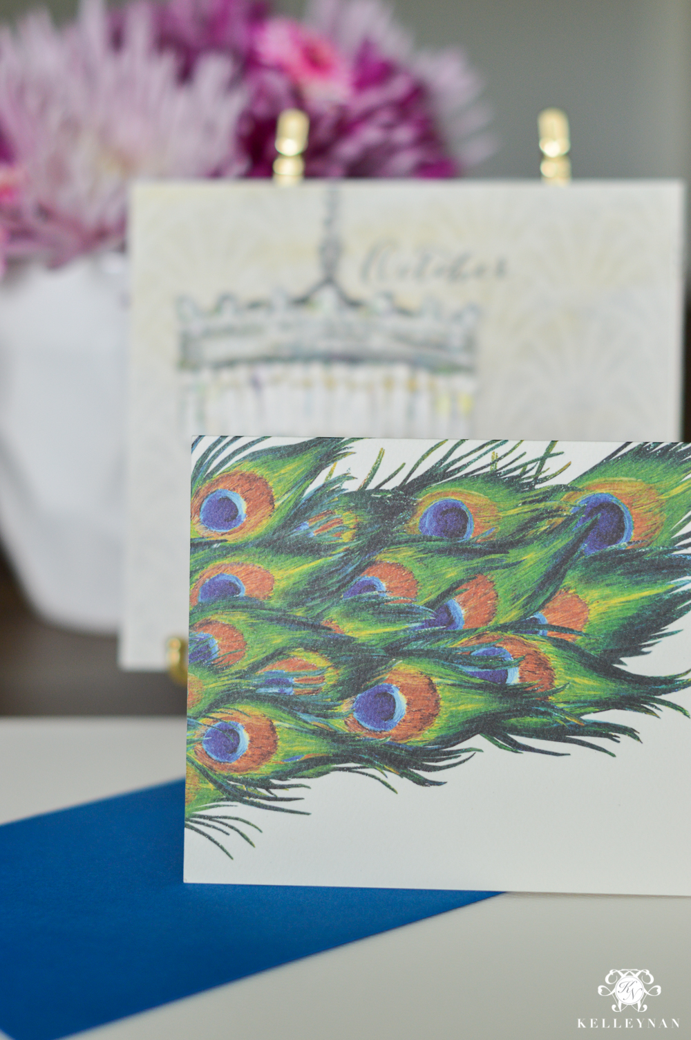 Peacock stationery and note cards