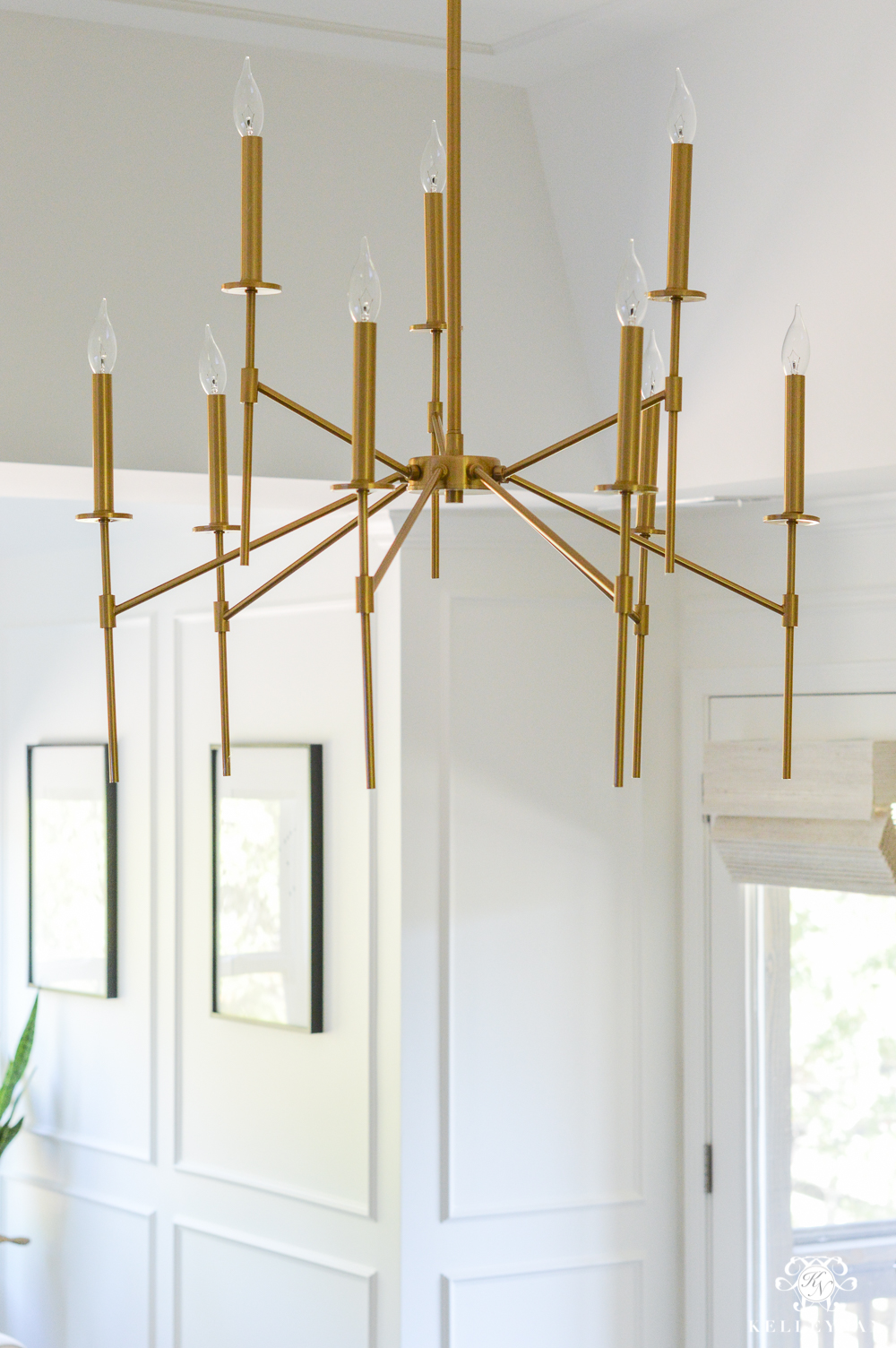 Gold modern chandelier for the bedroom- bedroom lighting ideas