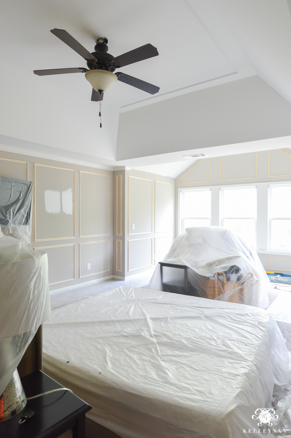 Master Bedroom Makeover Paneled Walls