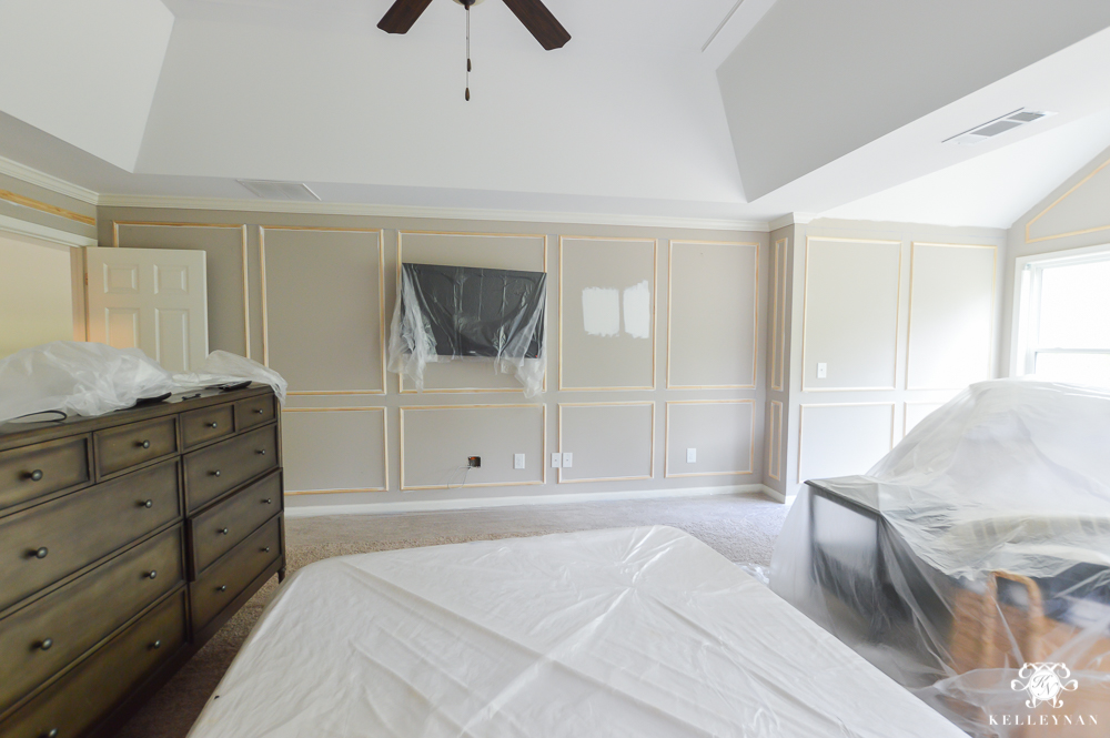 One Room Challenge Master Bedroom Makeover with Metrie Panel Walls in Master Bedroom-6