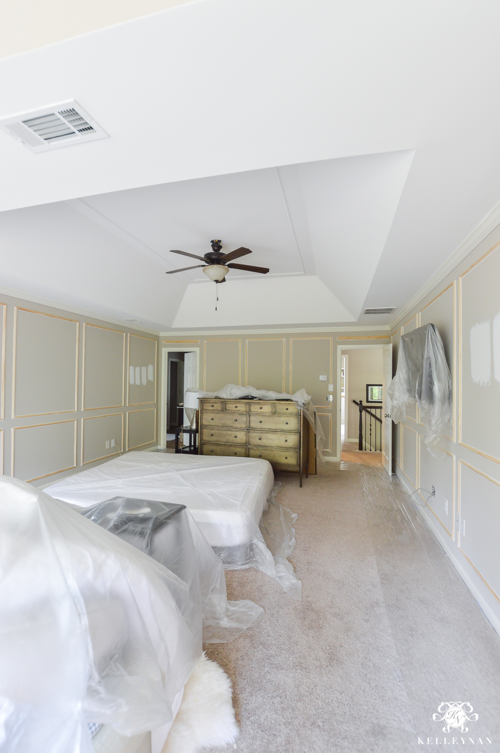 Master Bedroom Paneled Walls Prorgress