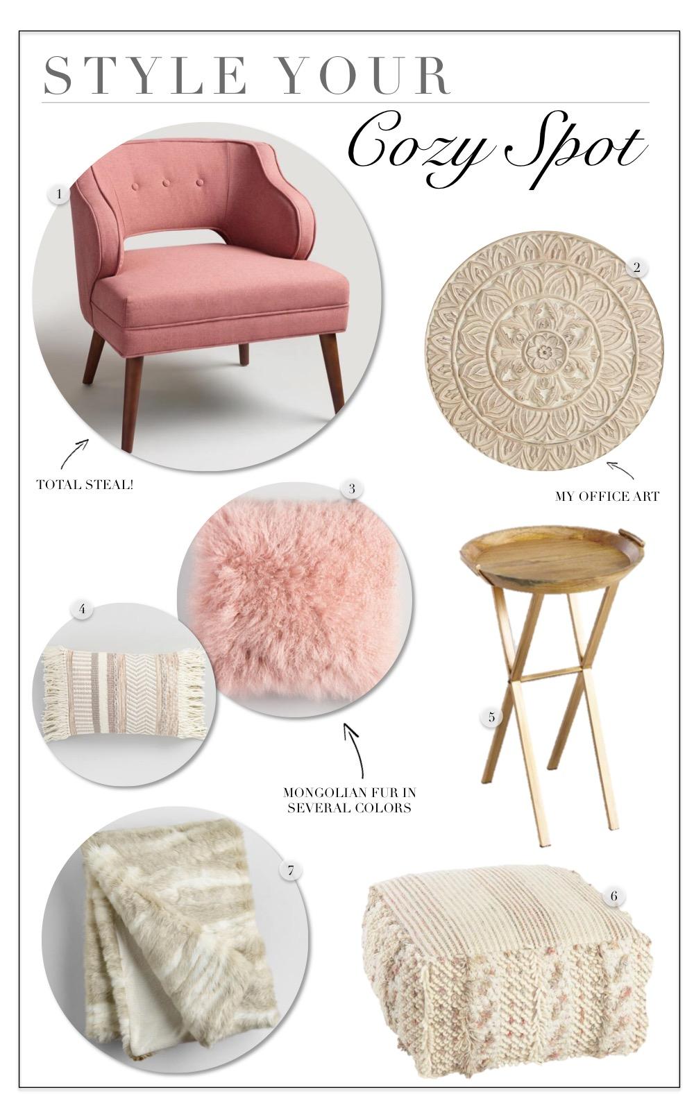 Rose Pink Tyley Chair World Market Sante Blog