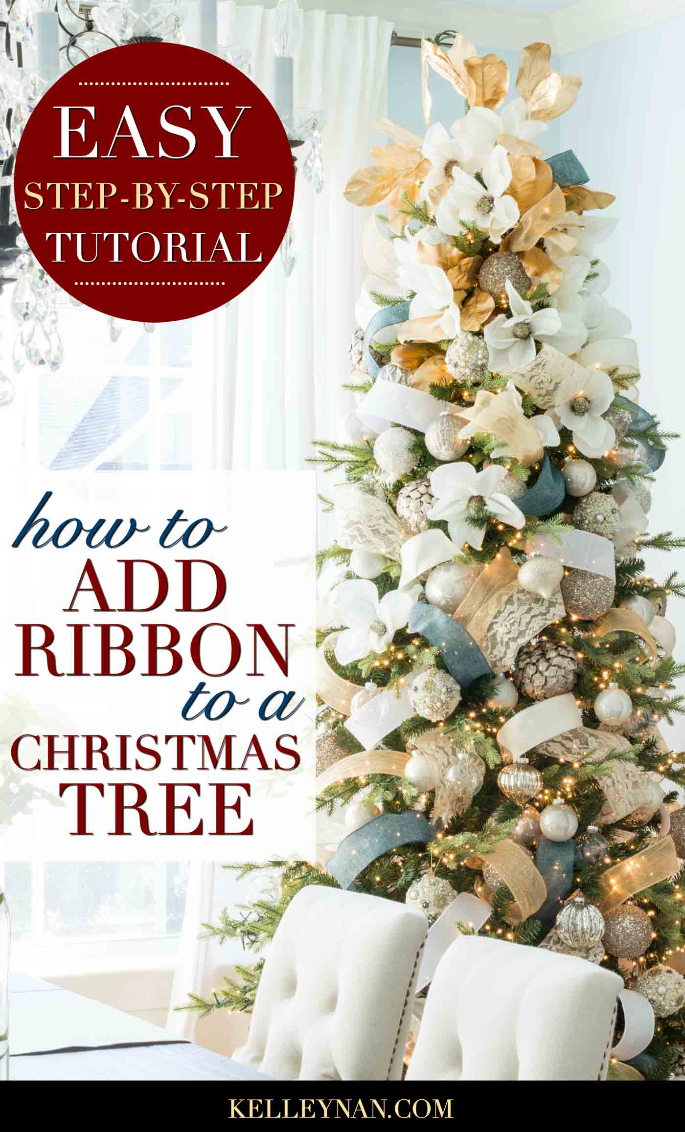 How to Add Ribbon to a Christmas Tree Like a Pro! Step by Step Tutorial for How to Put Ribbon On a Christmas Tree