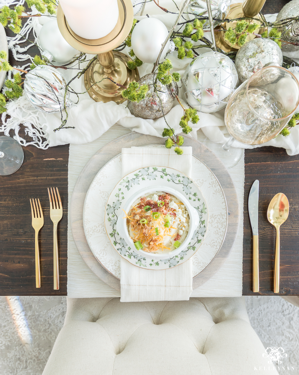 Christmas Place Setting Ideas for Dinner table