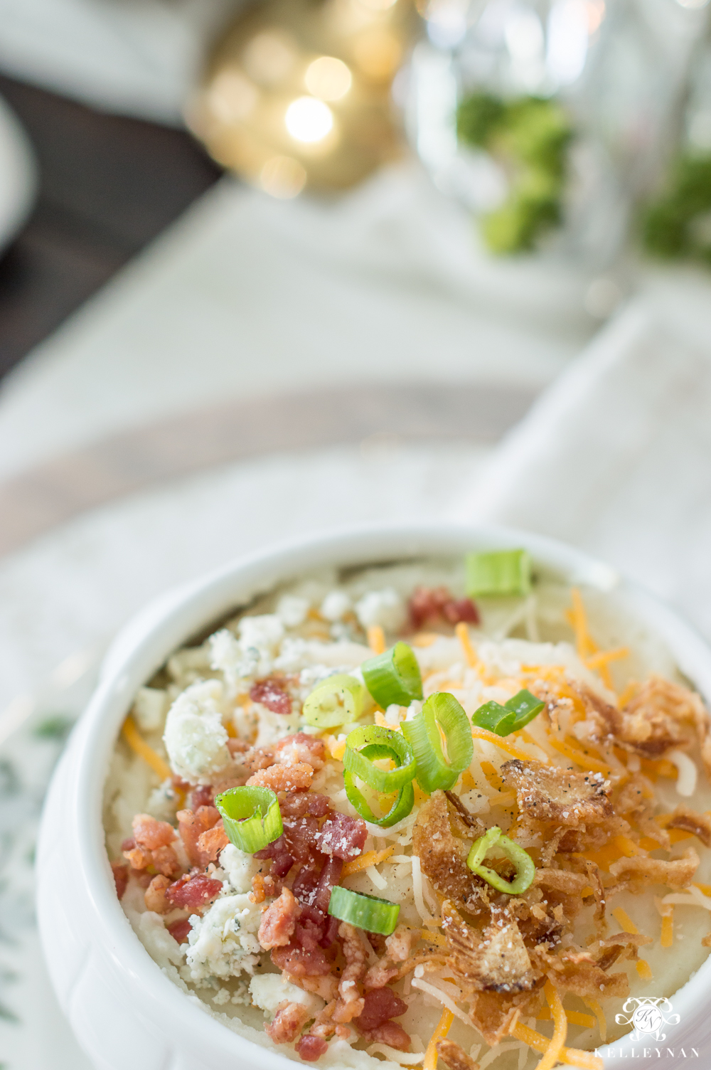 Loaded mashed potatoes for Christmas