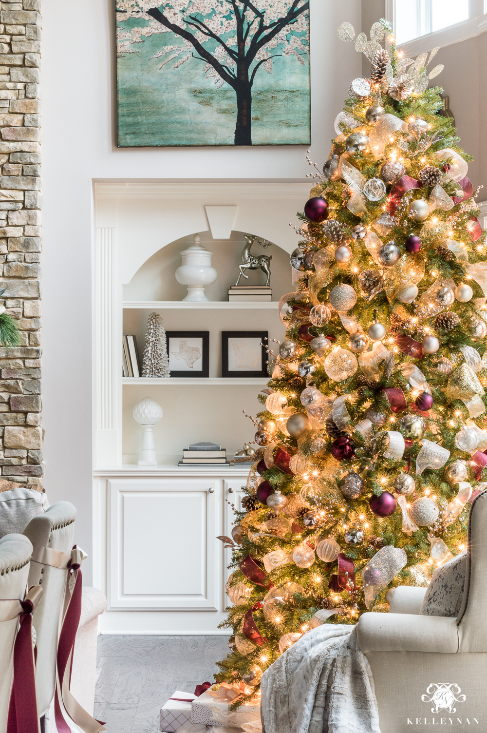 2017 Christmas Home Tour Champagne Wine And Other Christmas Color