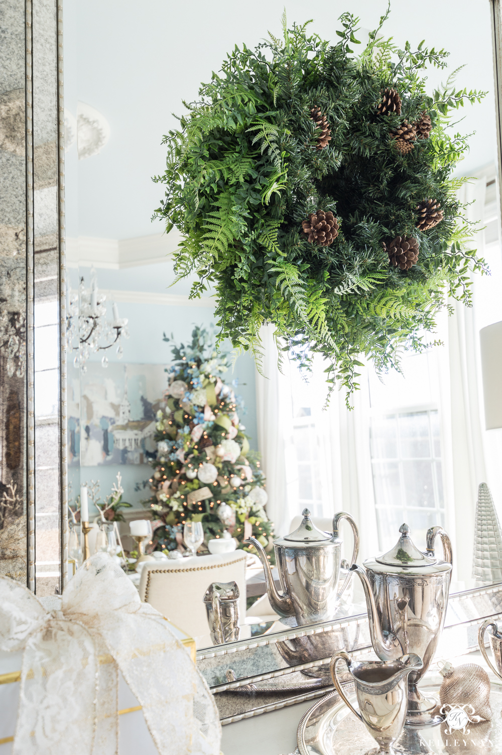 how to use a spring wreath for christmas