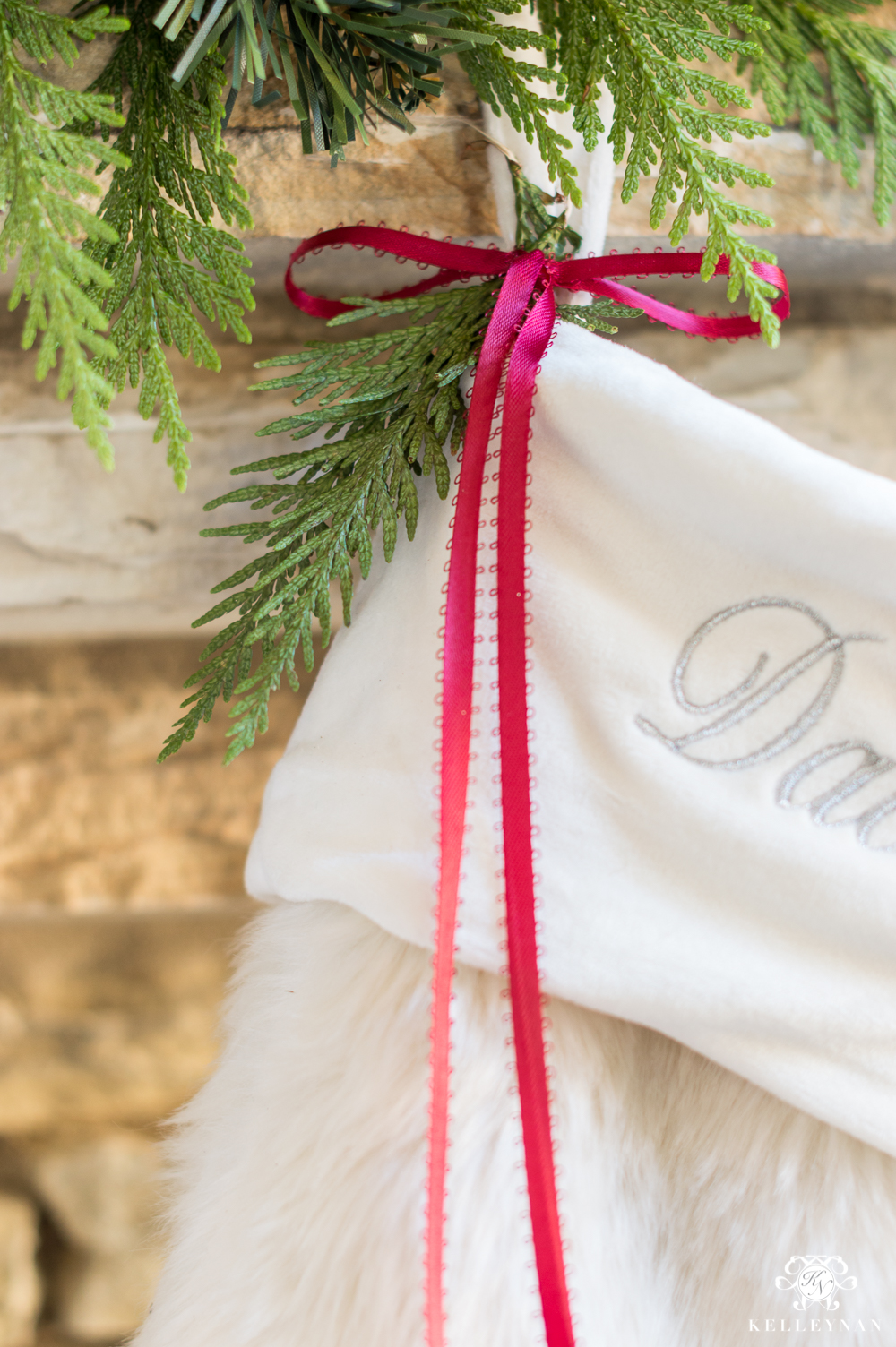 Christmas stocking mantel hook ideas