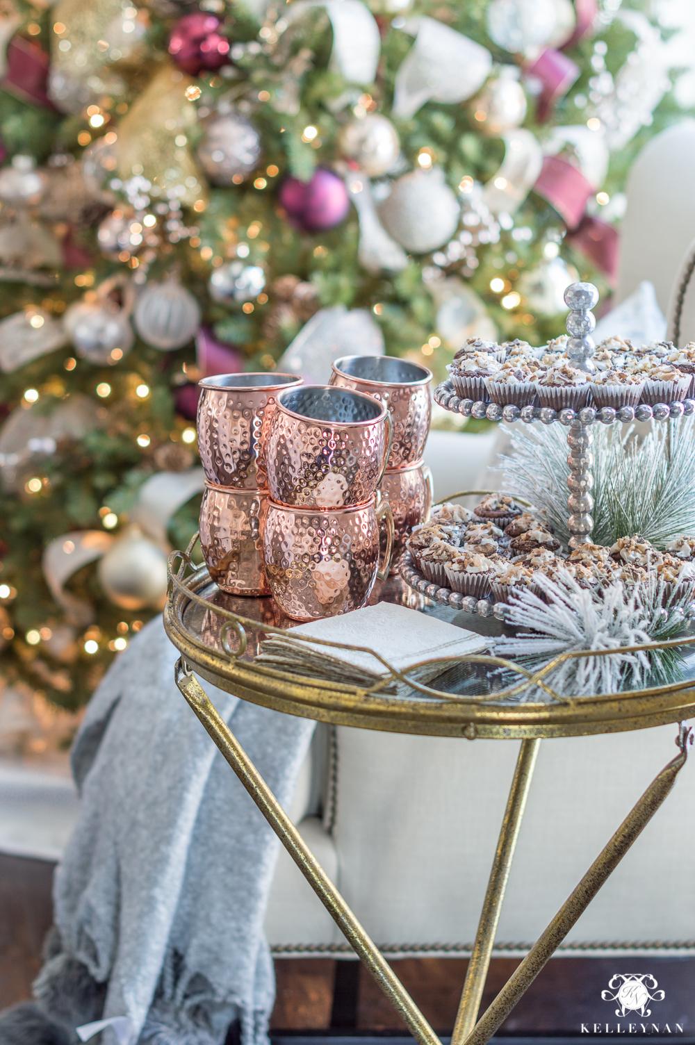 Christmas dessert display for after dinner