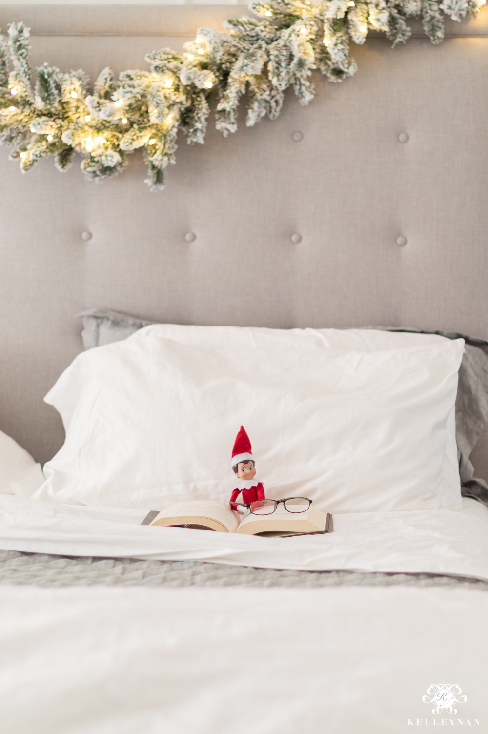Adult Elf on the Shelf Ideas - Staging your elf on the shelf for your spouse