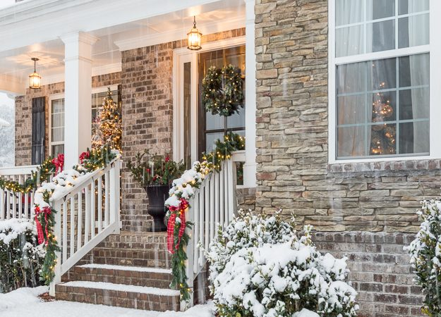 Classic Christmas Decor for a Traditional Front Porch