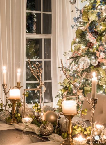 Nighttime Christmas Home Tour with Magical, Glowing Twinkle Lights