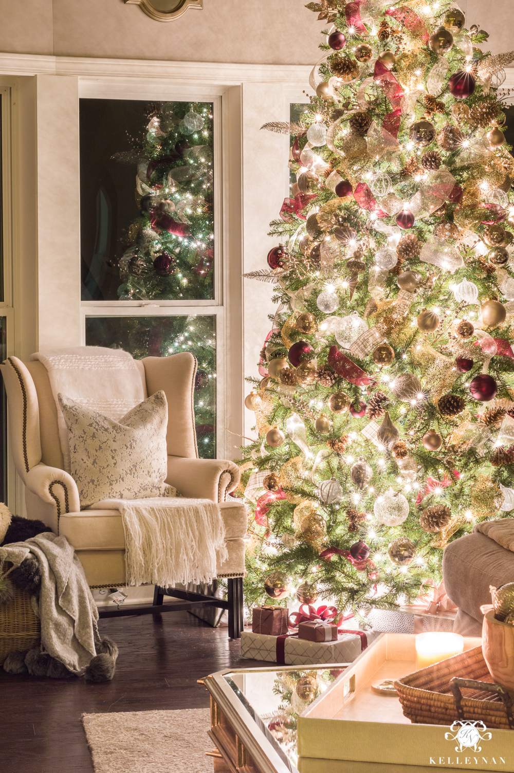 Nighttime Christmas Home Tour With Magical Glowing Twinkle Lights