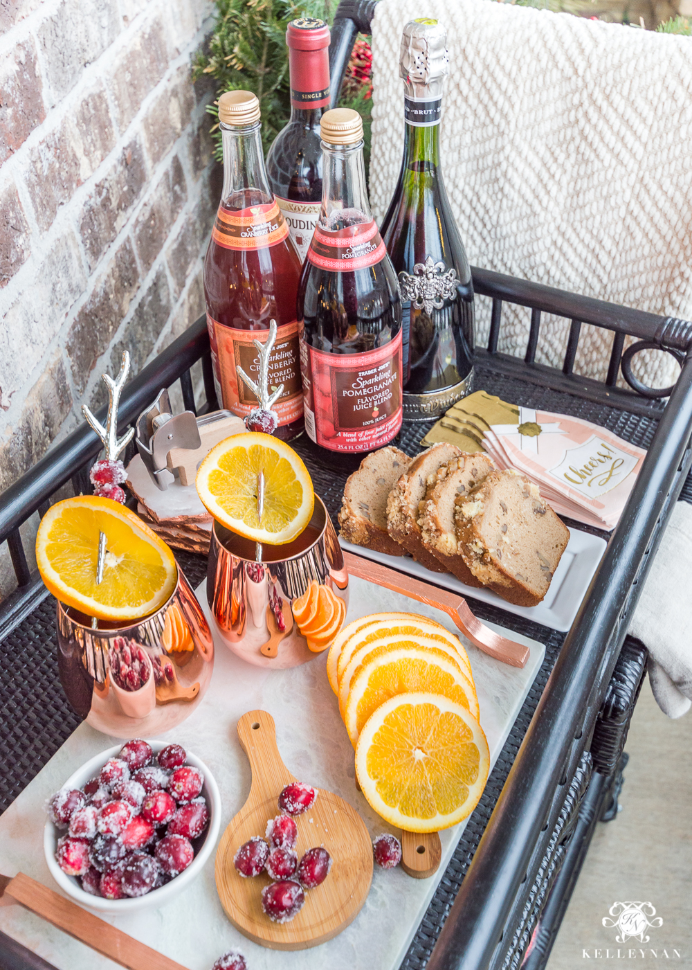 Christmas Bar Cart Inspiration and Ideas