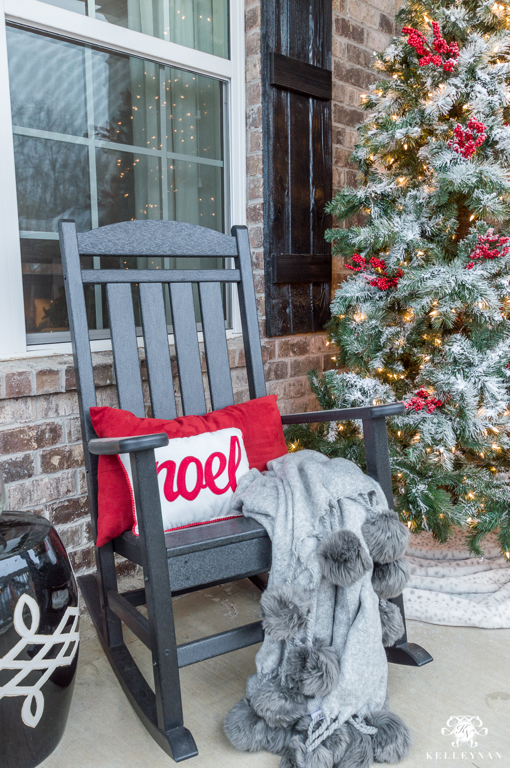 front porch rocking chairs for christmas - Craftsman Christmas Classic