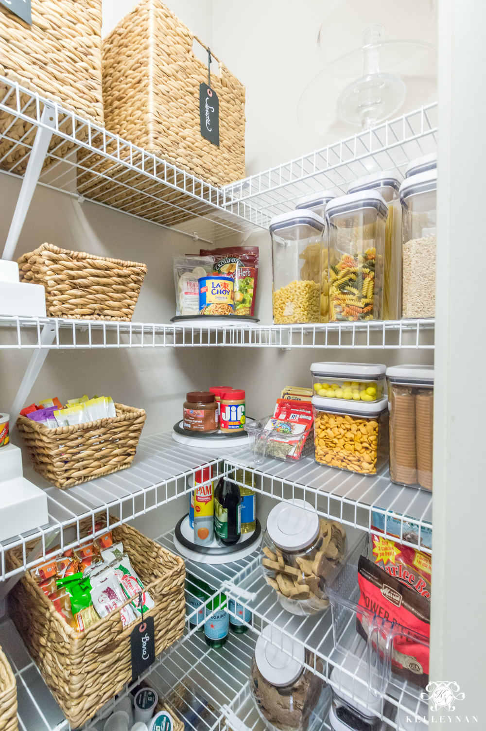 How to organize a small reach-in pantry