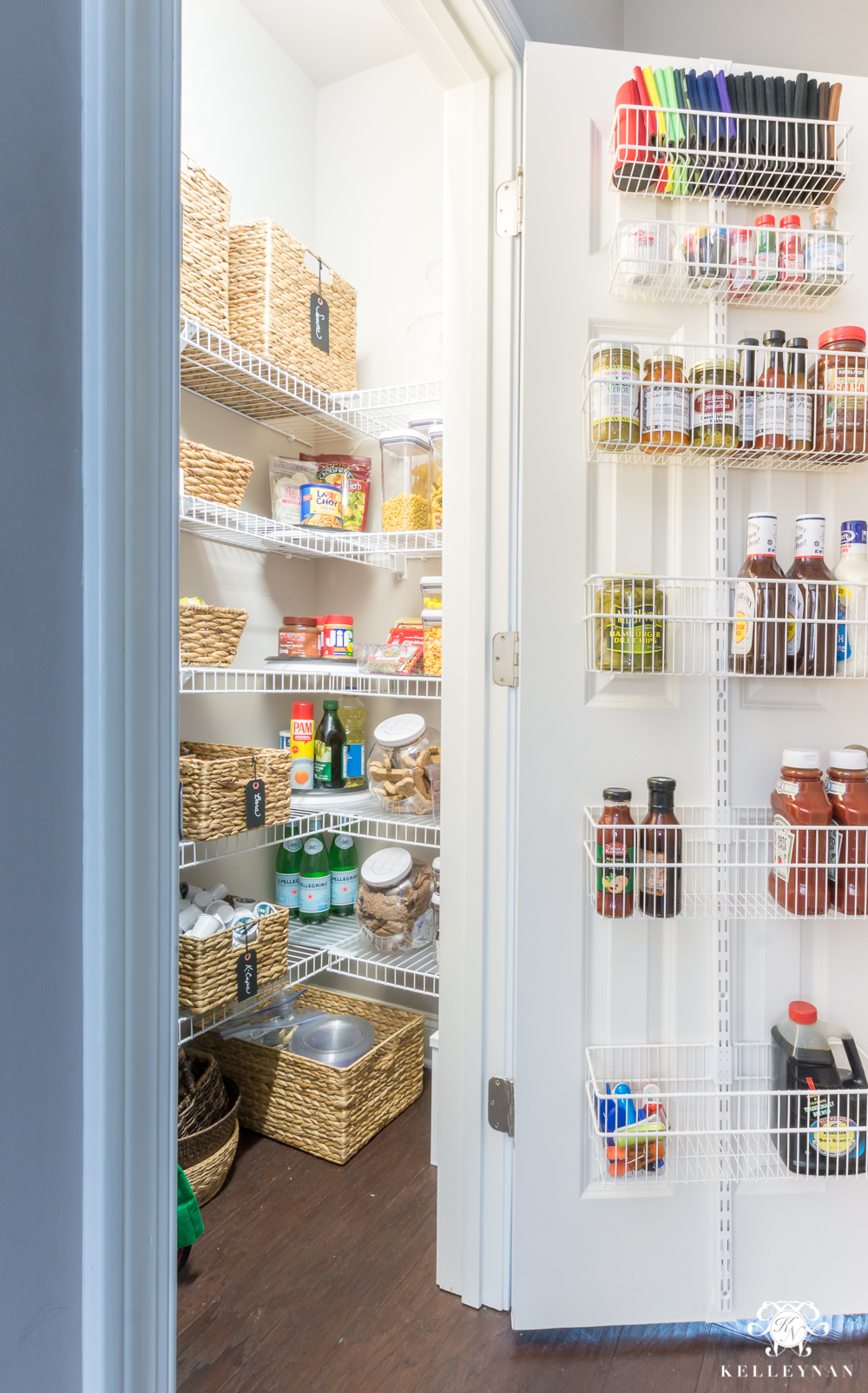 Organized pantry ideas for small reach-ins