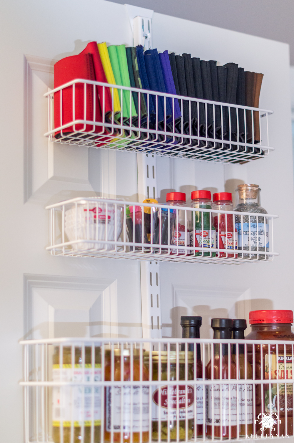 Door organization ideas for pantries with koozie storage