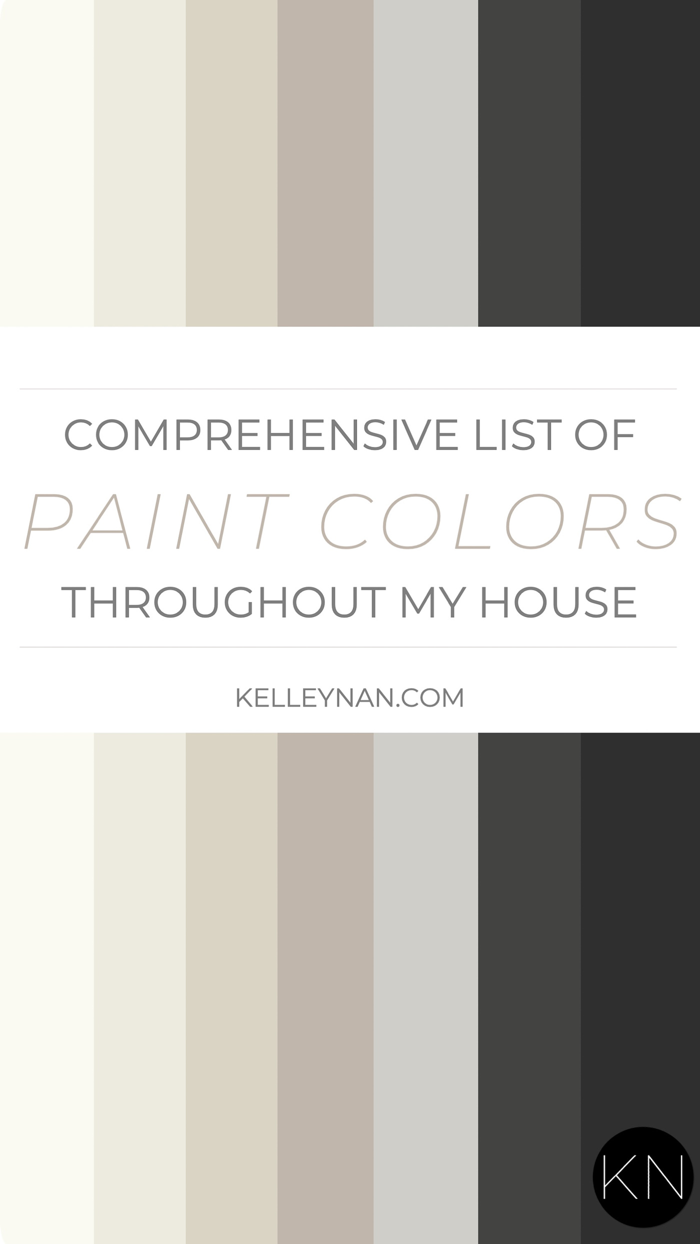 Kelley Nan Home Paint Colors - Neutrals & Blacks