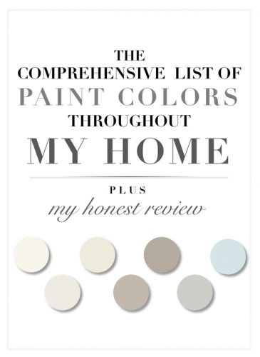 The Comprehensive List of Paint Colors Throughout My Home (Plus, My Honest Review)