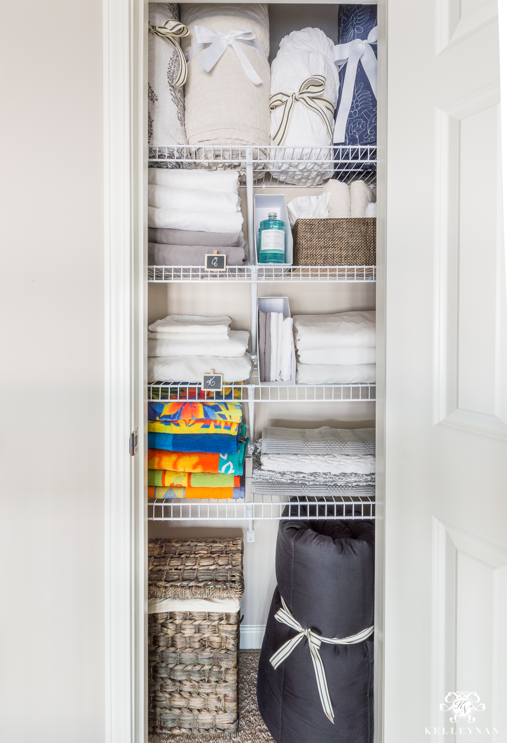 bathroom closet storage ideas a small organized linen closet and ideas to bulky 15814