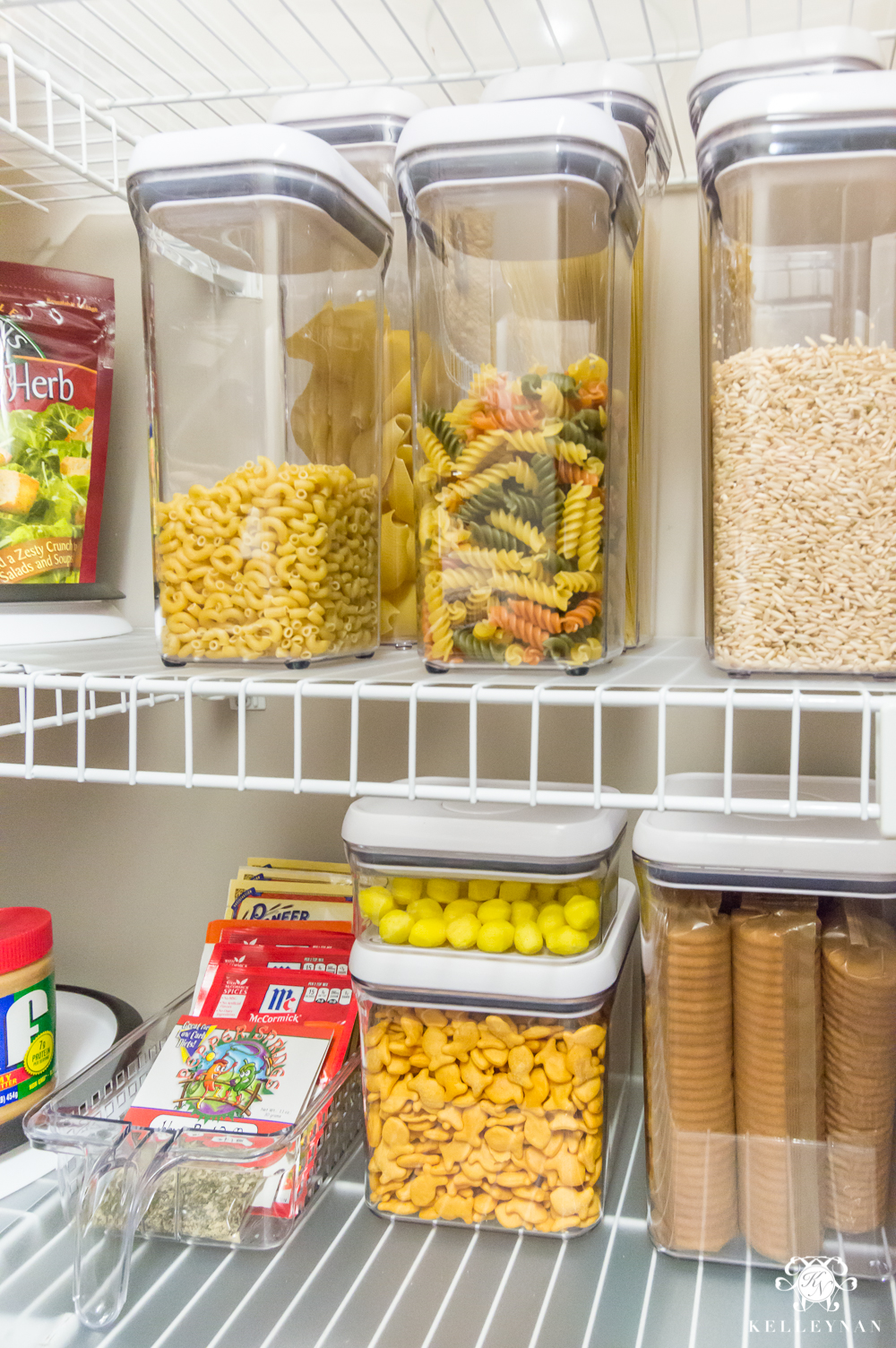 Clear Pop Canisters for Pantry Organization