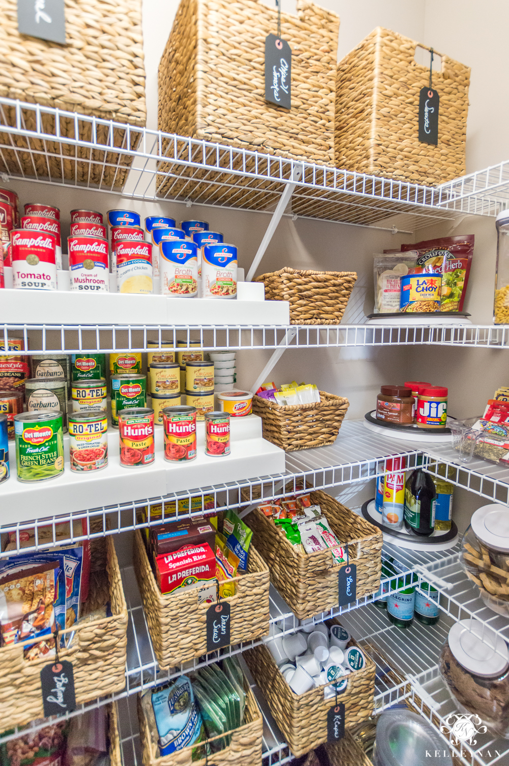 nine ideas to organize a small pantry with wire shelving kelley nan