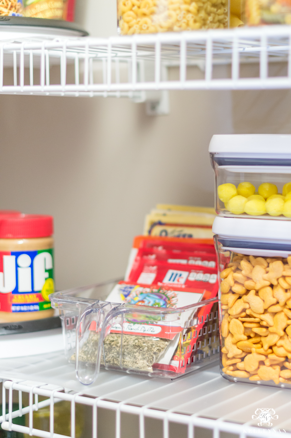 Pantry handle baskets for spice storage