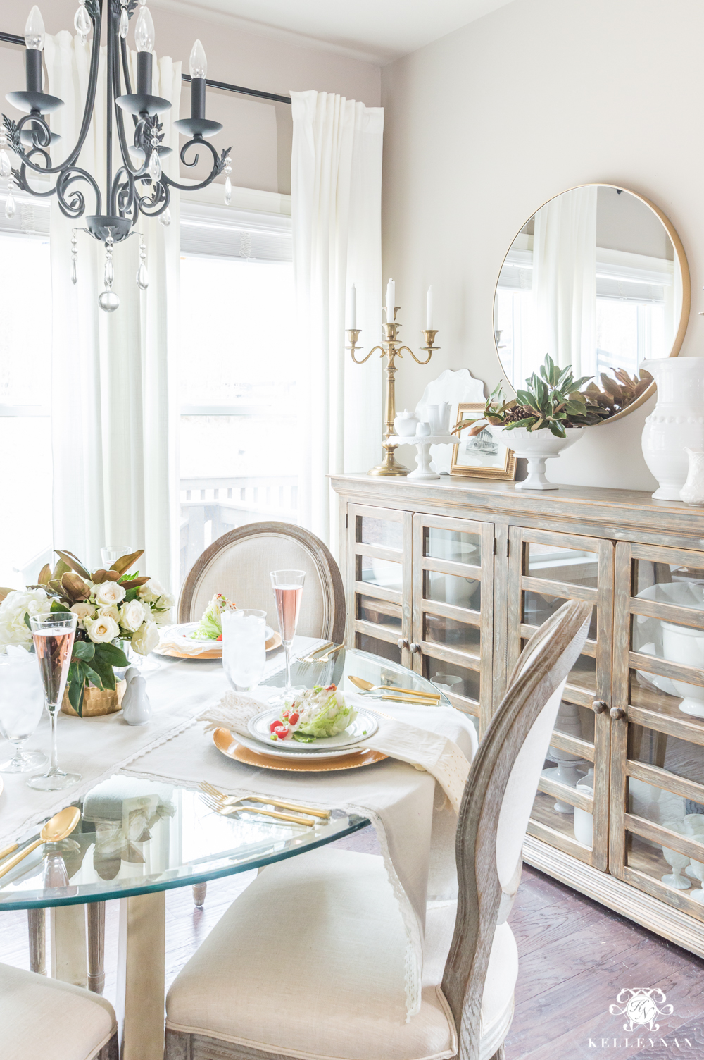 Galentine's Luncheon table and food ideas